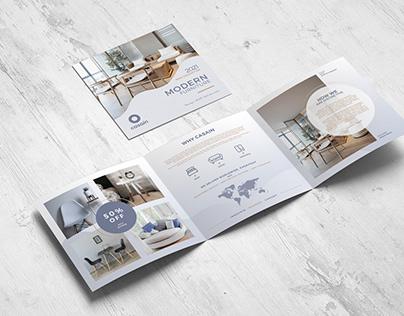 Square Trifold Furniture Brochure Template
