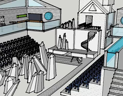 RUNWAY SET DESIGN: Google Sketchup