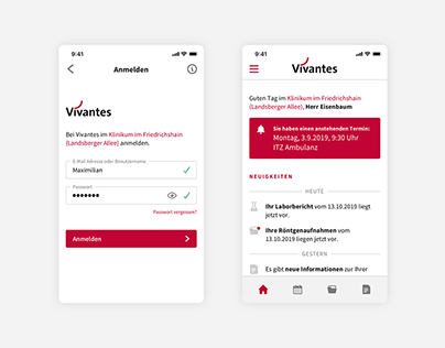 Vivantes – Healthcare App