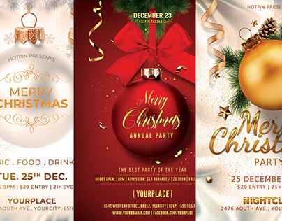 Christmas Flyer Invitation Bundle