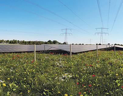 Solar park visualizations - panoramic photomontages