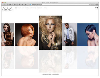 Aqua Salon & Spa website