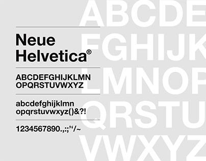 Monotype Neue Helvetica Specimen
