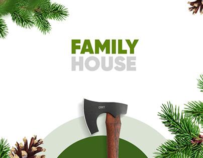 Landing page для компании FAMILY HOUSE