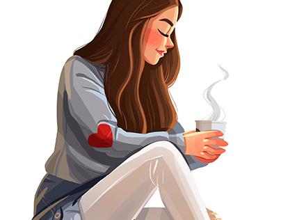 Saturday cozy-lazy-coffee doodle:)
