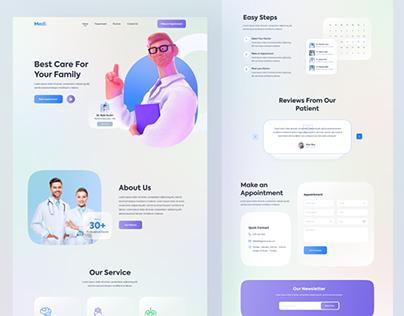 Medical web Landing Page