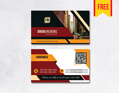 #free Building Business Card Design #psd