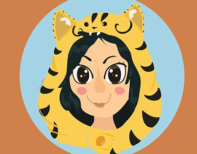 Self Portrait: Tiger Hoodie