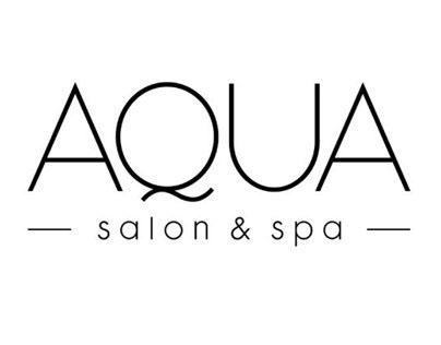 Aqua Salon & Spa identity brand