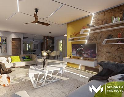 Contemporary Interiors - Living/Dining Room