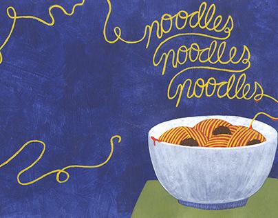 Noodles, Noodles, Noodles Cookbook Design