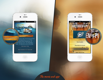 Mobile landing pages made for Kroma AS | 2012