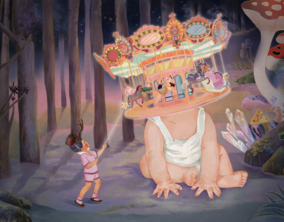 Merry-go-round森林游乐园