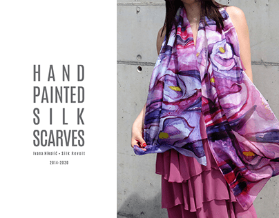 Hand painted silk scarves 2014-2020 part #4