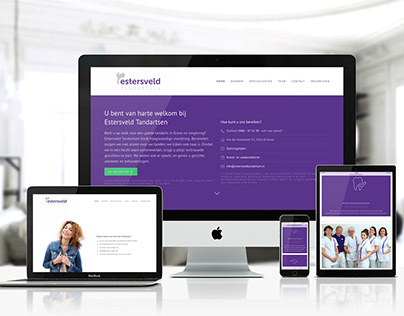 One page WordPress website for dentist practice