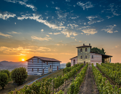 Berlucchi wineries in Franciacorta.
