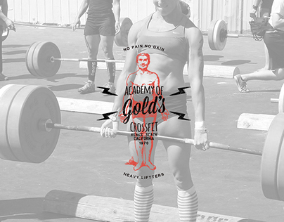Gold's Academy of Cross Fitness Branding & Logo