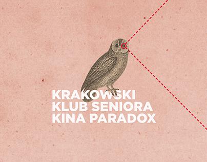 "Cracovian Senior Club of ""Paradox"" Cinema - identity"
