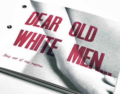 Dear Old White Men... Letterpress Book