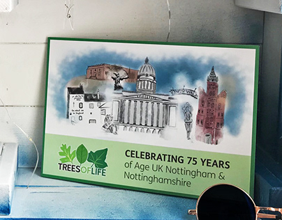 "Project illustration ""Trees of life"" Nottingham"