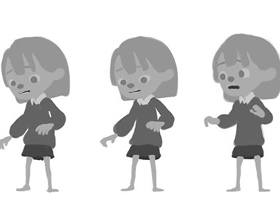 Mia - Character design and animation test