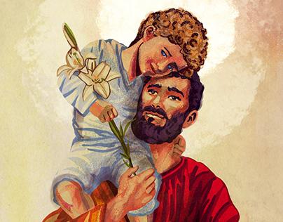 S. José e o Menino Jesus