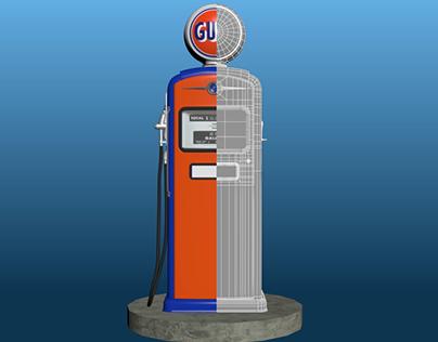 Gulf Gas Pump-Bennett 966 3D model