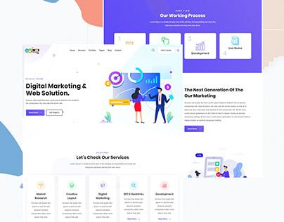 Digital Marketing Responsive Wordpress Website