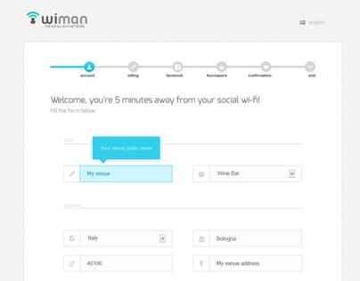 Wiman registration wizard