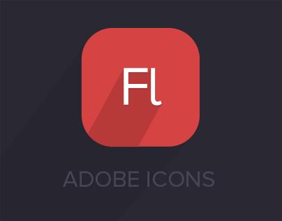 Adobe Flat icons