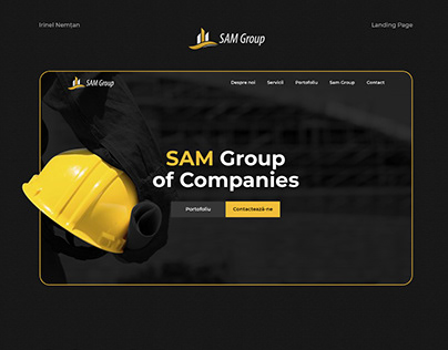 Redesign Sam Group | Landing Page