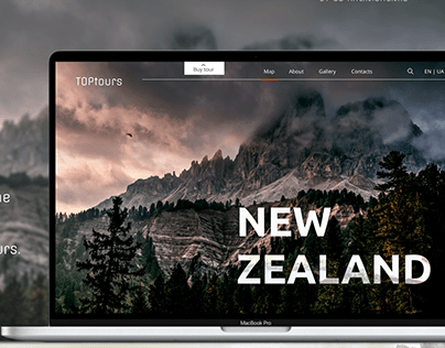 Landing page design of the TOPtours company