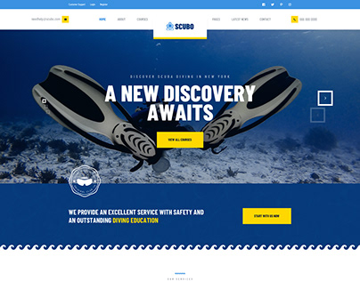 Scubo - PSD Template For Scuba Diving Centre