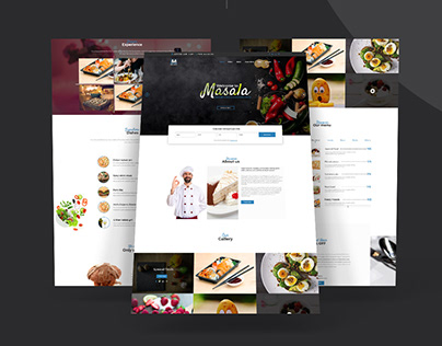 Masala Restaurant landing page concept.