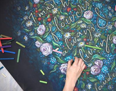 Claude Monet Chalkboard