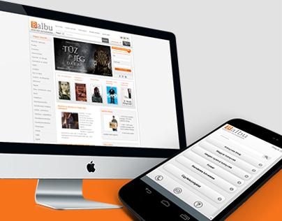 Balbu - Shop design for desktop and mobile