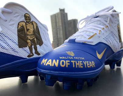 Eli Manning Man of the Year Cleats