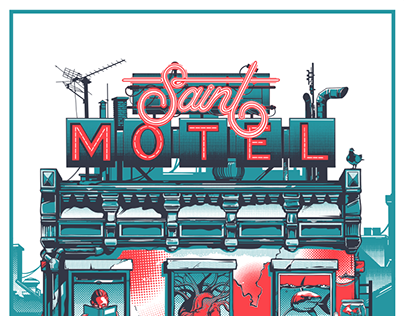Saint Motel Augmented Reality poster for Adobe MAX