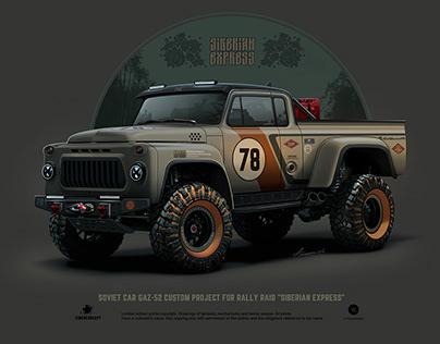 "GAZ-52 CUSTOM PROJECT FOR RALLY RAID ""SIBERIAN EXPRESS"""