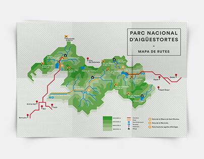 Mapa de rutas del Parc Nacional d'Aigüestortes