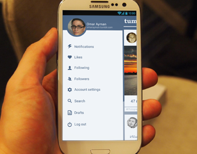 Tumblr. android app redesign