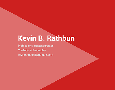 Business card for youtuber