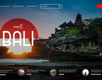 Bali Hompage Concept Design
