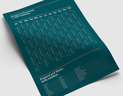 Calendar Print Design