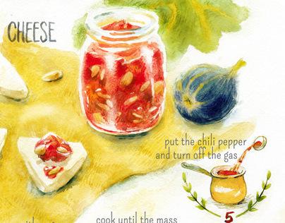 Fig Jam Illustration