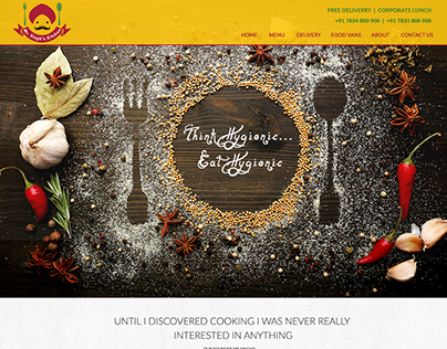 Home Page Layout for Catering Client