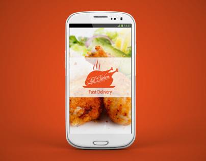 Identity & App UI Concept -  Full Chicken Restaurant