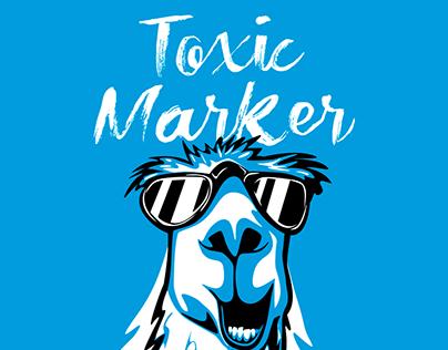 Toxic Marker Dry brush font
