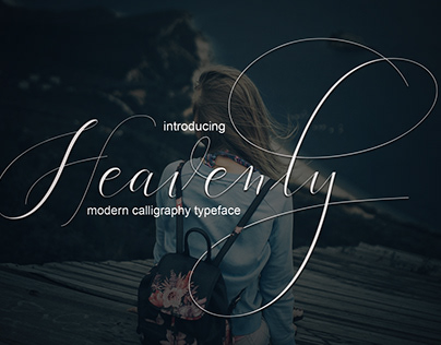 Modern Calligraphy font script for wedding
