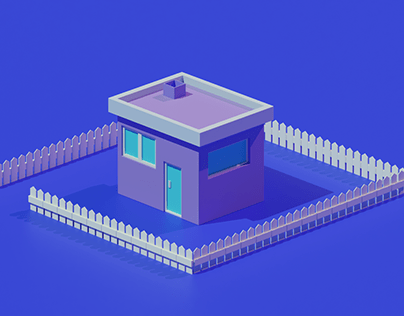 cute low poly house
